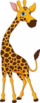 Śliczna żyrafa kreskówka