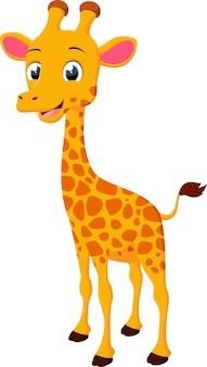 Śliczna żyrafy kreskówki pozycja