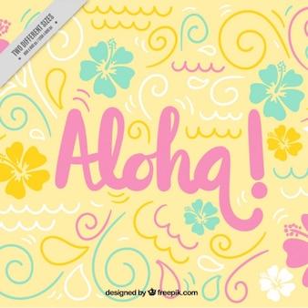 Śliczne Aloha Tle Darmowych Wektorów