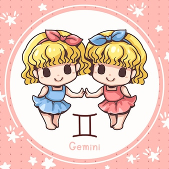 Śliczne bliźnięta z kreskówek