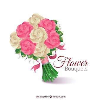Śliczne bukiet róż