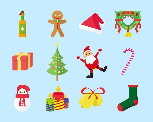 Śliczne christmas icon pack