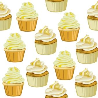 Śliczne cucpcake wzór samless