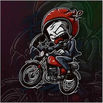 Śliczne czaszki jazda motocyklem