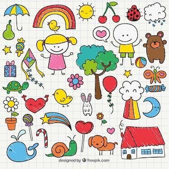 Śliczne dzieci rysunek