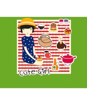 Śliczne dziewczyny piknik
