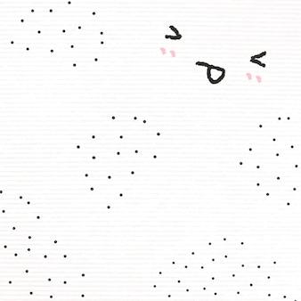 Śliczne emotikony tło wystające język w stylu doodle