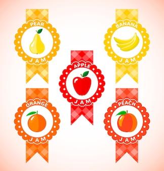 Śliczne etykiety na dżem owocowy