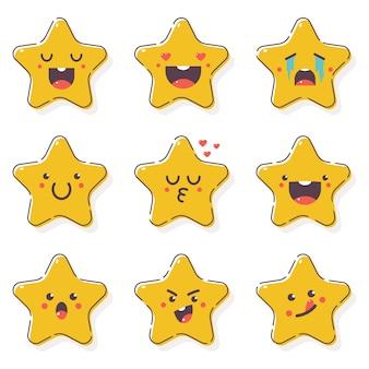 Śliczne gwiazdy z emocjami