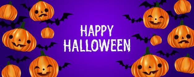 Śliczne halloween banie i nietoperza deseniowy tło
