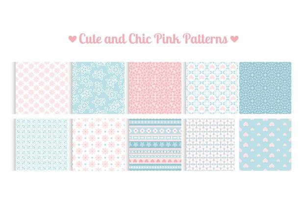 Śliczne i eleganckie różowe wzory