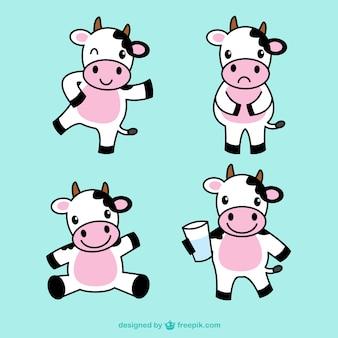 Śliczne ilustracje krowa