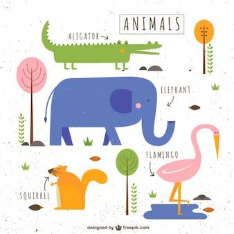 Śliczne ilustrowane zwierząt