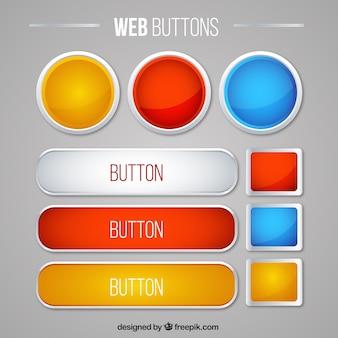 Śliczne internetowych przyciski pakietu