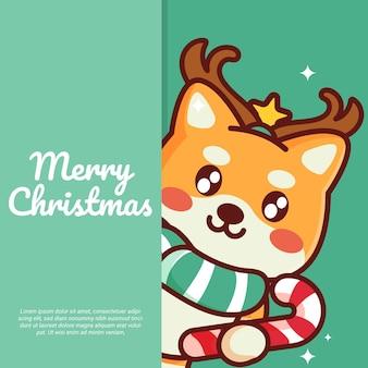 Śliczne kartki świąteczne wektor