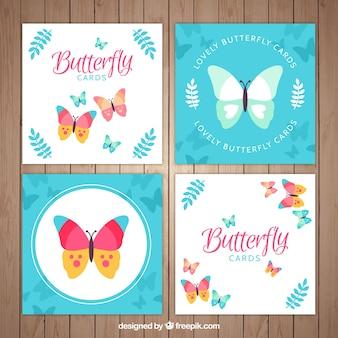 Śliczne karty motyl