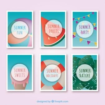 Śliczne karty na lato