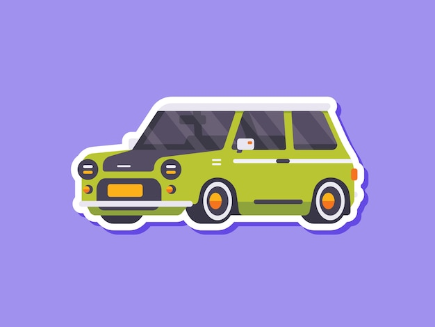 Śliczne klasyczne naklejki samochodowe