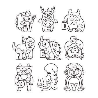 Śliczne kolorowanki dla dzieci z kolekcją potworów