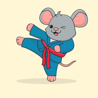 Śliczne kopanie bojowe myszy