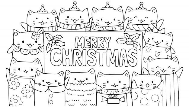 Śliczne koty i wesołych świąt