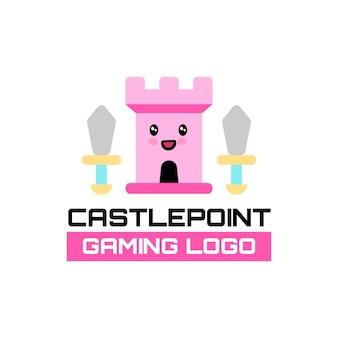 Śliczne logo gier castlepoint