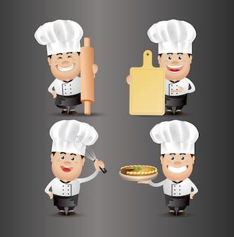 Śliczne ludzie-profesjonalny szef kuchni