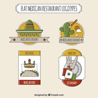 Śliczne meksykańskiej restauracji loga