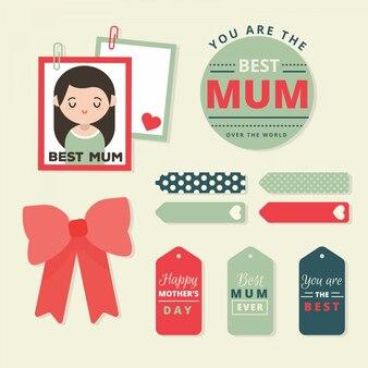 Śliczne mieszkanie bannery kolekcji na dzień matki