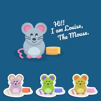 Śliczne myszy znaków w tle