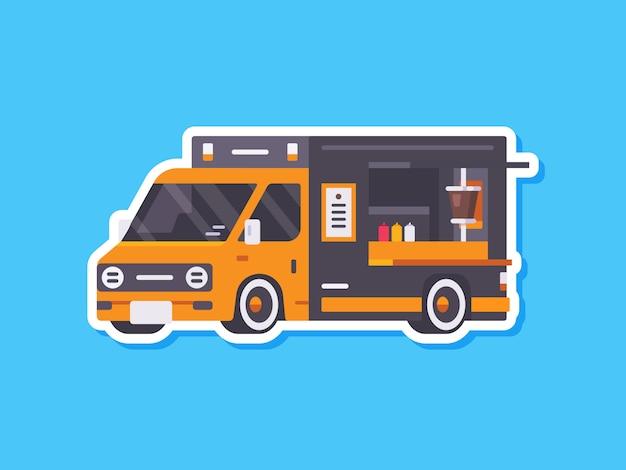 Śliczne naklejki samochodowe food truck