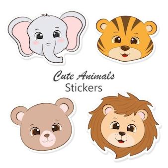 Śliczne naklejki zwierząt
