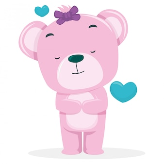 Śliczne niedźwiedzie mają nadzieję, że zdobędą partnera w walentynki