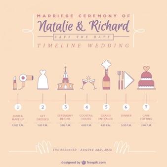 Śliczne osi czasu ślubu