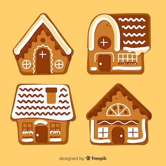 Śliczne paczki z domkami z piernika