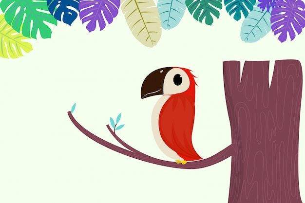 Śliczne papugi siedzące lub gałązka