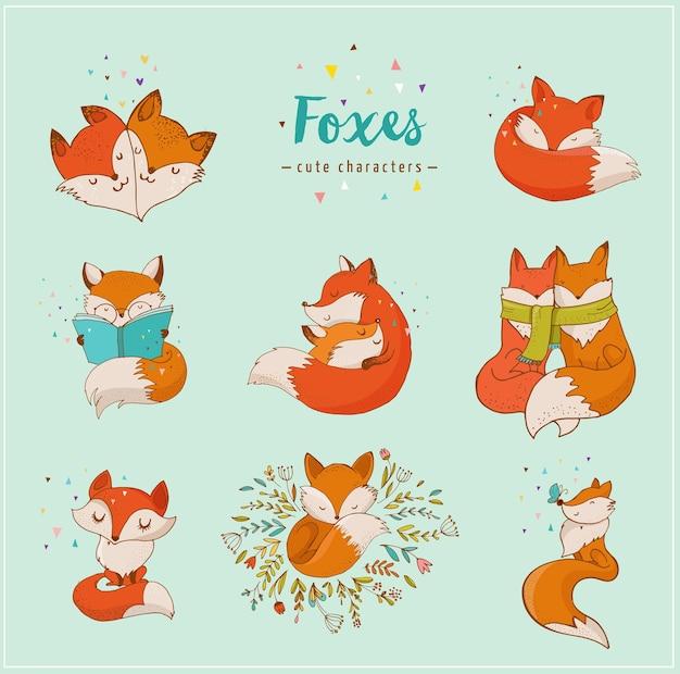 Śliczne postacie lisa