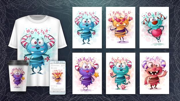 Śliczne potwory plakat i merchandising