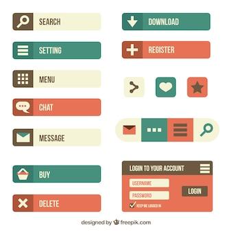 Śliczne przyciski www