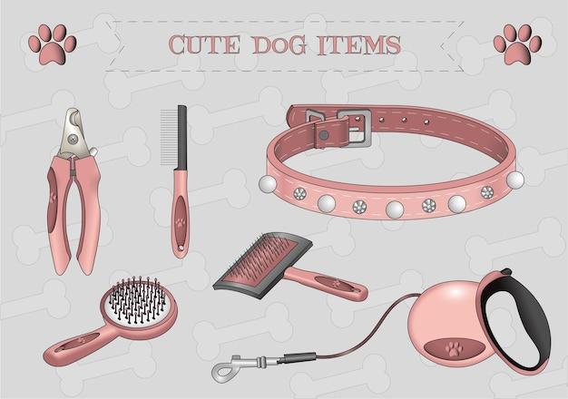 Śliczne psie przedmioty