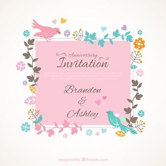 Śliczne rocznica zaproszenia