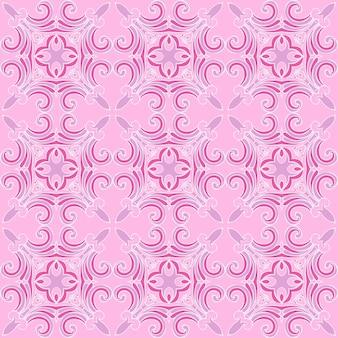 Śliczne różowe bezszwowe abstrakcyjne kafelkowe tło wektor wzór sieci