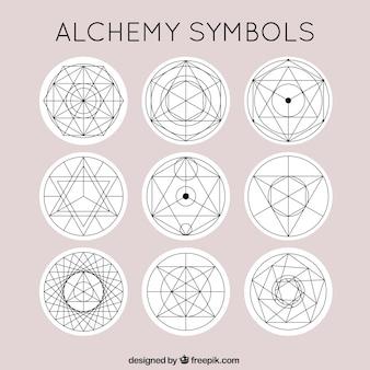 Śliczne symbole alchemii