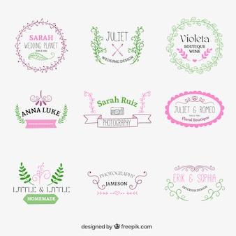 Śliczne szkicowe odznaki