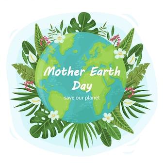 Śliczne tło dla mother earth day
