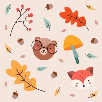 Śliczne tło jesień