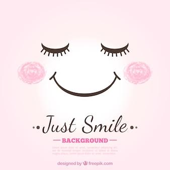 Śliczne tło uśmiech