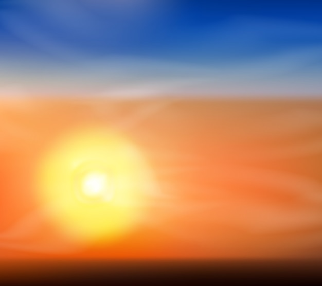 Śliczne tło wschodu lub zachodu słońca