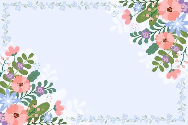 Śliczne tło z kwiatowymi detalami