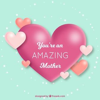 Śliczne tło z serca na dzień matki
